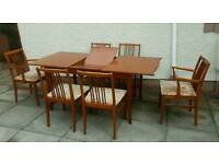 beithcraft extendible table and six chairs