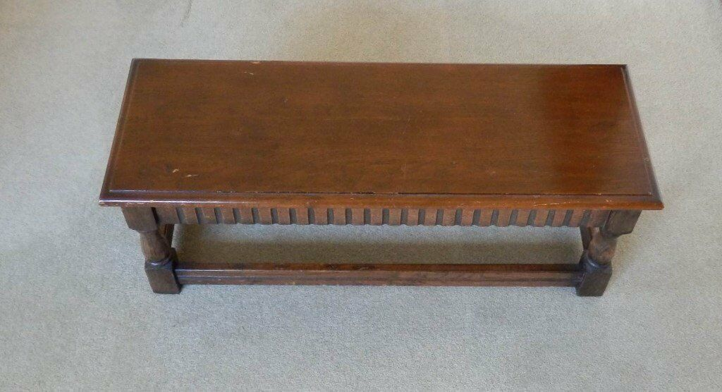 COFFEE TABLE, Antique, Hand made in solid wood, in reasonable condition for its age.