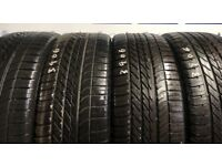 Land Rover Tyres 4x 255/55/20 110W XL M&S Goodyear Eagle F1 ALL 7.5mm
