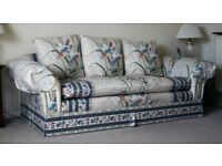 Suite of Three and Two-Seater Settees/Sofas, Armchair and storage footstool/pouffe