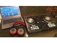 Traktor Kontrol S2 MK2 Decks with Traktor Pro 2 DJ Software + American Audio ETR 1000R DJ Headphones