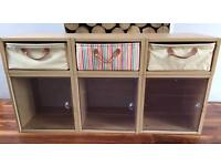Great Little Trading Company children's storage units - set of 3