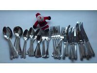 Grecian Silver Plate Set of Cutlery, K Bright, 1984, 46 pieces