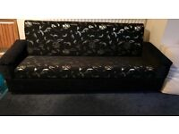 Black and Gold Sofa Bed - 2 months old