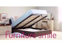 **BRAND NEW LEATHER DOUBLE STORAGE BED WITH MATTRESS** SAME DAY OR NEXT DAY DELIVERY