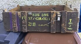 Old Artillary Boxes For Sale, some large some small, great for planting up!