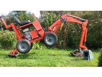 Powerfab 125wt towable mini digger excavator HONDA G300 ENGINE