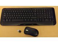 Microsoft 800 Wireless Keyboard and Wireless Mouse 1000