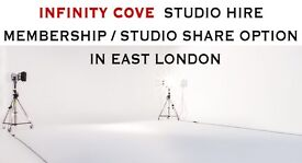 Photography INFINITY COVE Photo studio hire in East London, SHARED STUDIO / MEMBERSHIP available