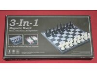 Magnetic Chess, Draughts & Backgammon (new)