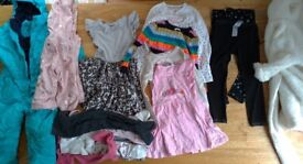 Various used/clean girls clothes. Age 3 - 4. (Bag No. 2.)