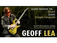 Professional Guitar Lessons 1-2-1 or Online