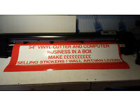 Sign Making Business Set Business Cutter / Computer / Graphics Make ££££ Ready !