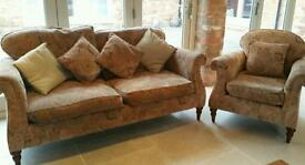 Settee (sofa 2 seater )and chair