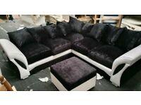 ❤️❤️Brand New Shannon Crushed Velver Sofa Set, 5 SEATER CORNER SOFA❤️❤️