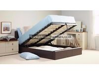 """WOW OFFER"" -- King Gas Lift Storage Leather Bed + Orthopaedic Mattress -- ""Get It Now"""