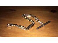 "9ct gold pocket watch chain short 7.5"" albert style chain"