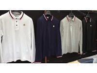 Moncler knitted longsleeve polo shirts wholesale joblot imported quality