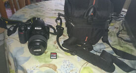 Nikon D3100 body + original 18-55mm kit lens// For sale! Good price, dont miss a chance!