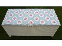 Vintage Lloyd Loom 1950's Toy Box or Linen Chest