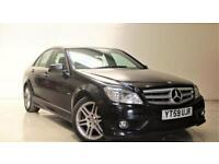 MERCEDES-BENZ C-CLASS 2.1 C220 CDI BLUEEFFICIENCY SPORT 4d AUTO 170 BH (black) 2009