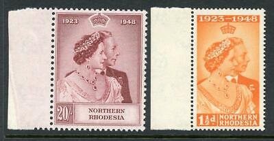 Northern Rhodesia 1948 Silver Wedding Set SG48/9  fine MNH