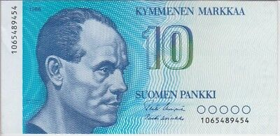 FINLAND BANKNOTE P113  10 MARKKAA 1986, EF