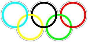 Olympic Rings Car Bumper Window Tool Box Sticker Decal 6