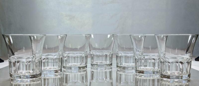 Set of 7 Vintage Libbey  ~ DURATUFF GIBRALTAR CAFE ~ Clear Double Old Fashioned