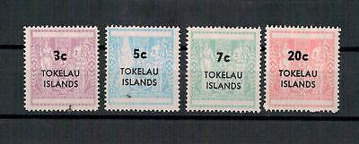 Tokelau-Inseln, Stempelmarken MiNr. 4 - 7, 1967**