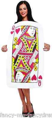 Damen Königin der Herzen Alice Im Wunderland Spielkarte Kostüm Kleid Outfit