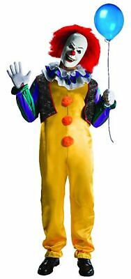 Pennywise The Clown Costume (Classic Deluxe Pennywise the Laughing Clown Costume 1991 IT King Horror Dress)
