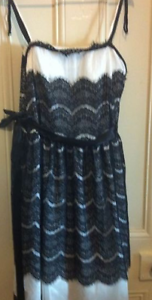 Dreamdiva Strapless Black and White Lace Evening Dress - size 22 Brunswick West Moreland Area Preview