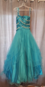 One-Shouldered Turquoise Prom Dress Never Worn