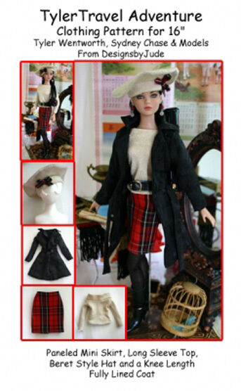 Travel Adventure Doll Clothes Sewing Pattern for Tyler,  Tonner
