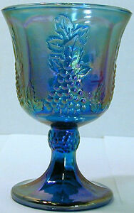 carnival glass goblet