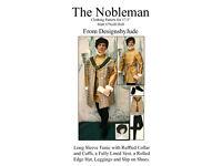 Nobleman Doll Clothes Sewing Pattern for Matt Rufus Sean Tonner