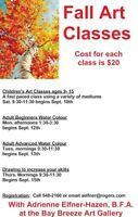 Fall Art Classes 2016