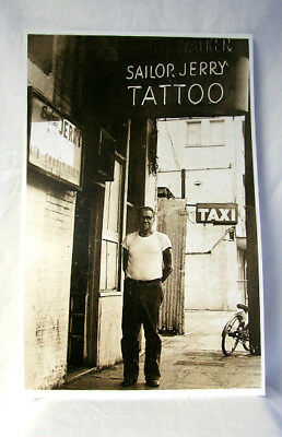 Sailor Jerry Collins Tattoo Vintage Poster Print Photo