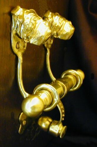 ENGLISH BULLDOG Bronze DUET Door Knocker