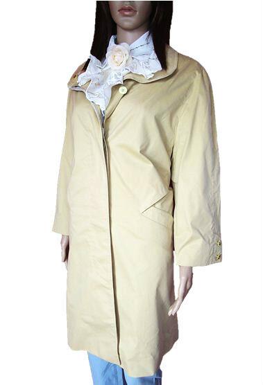 Germany Vtg 80s Womens Beige MICRO SPORTIV Autumn Spring Trench Coat sz 14 AL90