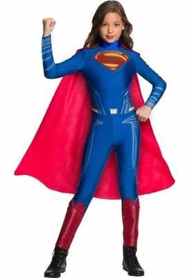 Justice League Costumes For Girls (Rubies DC Comics Superman Justice League Girls Jumpsuit Halloween Costume)