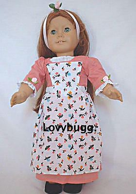 "Lovvbugg Colonial Birthday Dress for 18"" American Girl Felicity Doll Clothes"