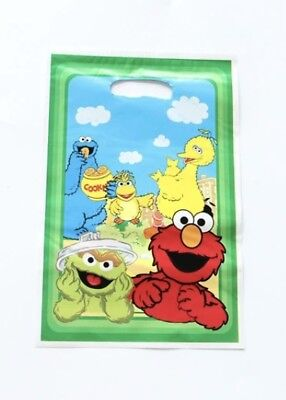 NEW Pack of 10 Girls/Boys Sesame Street Themed Party Loot Bag Lolly Bags  - Sesame Street Birthday Party Theme