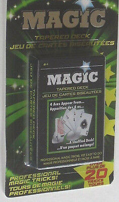 4 MAGIC PLAYING CARDS TRICK MARKED GAME NOVELTY DECKS 20 TRICKS C MY OTHER ITEMS - Wholesale Novelty Items