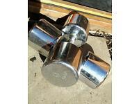 Dumbells solid chrome 28kg