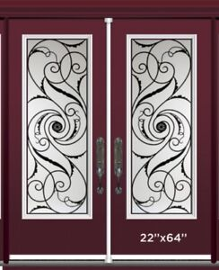 Wrought Iron Decorative Door Glass Insert INSTALLATION INCLUDED