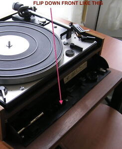 Dual 1219 Turntable in plinth with flip down front