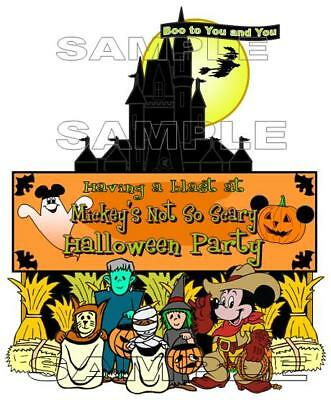 Disney Mickey's Not So Scary Halloween Party Entrance Sign Scrapbook Die Piece](Not So Scary Halloween Crafts)
