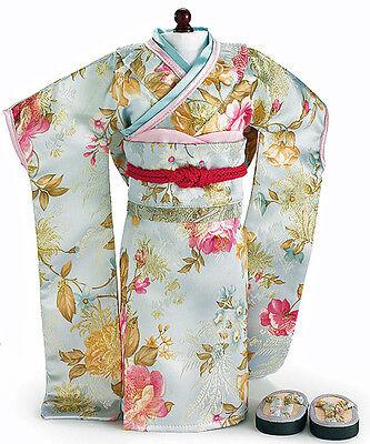 Brocade Japanese Kimono + Tatami Sandals made for 18